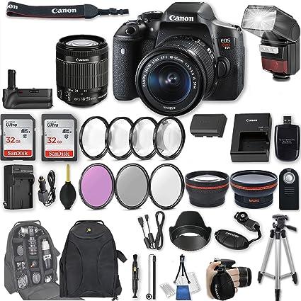 .com : canon eos rebel t6i dslr camera ef-s 18-55mm f/3.5-5.6 ...