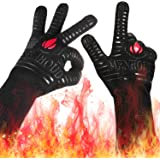 "Landteek Fine BBQ Grilling Gloves, 1472°F Extreme Heat Resistant Grill Gloves, 14"" Food Grade Kitchen Oven Mitts…"
