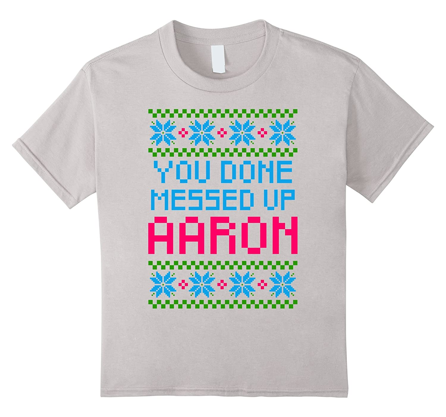 amazoncom you done messed up aaron ugly christmas gift sweater clothing