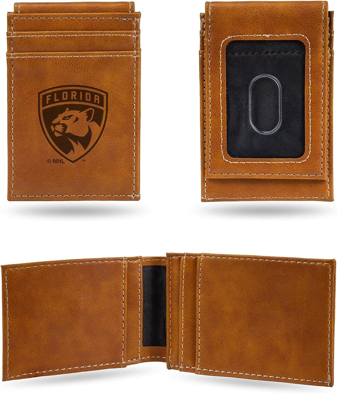NHL Rico Industries  Laser Engraved Front Pocket Wallet Florida Panthers