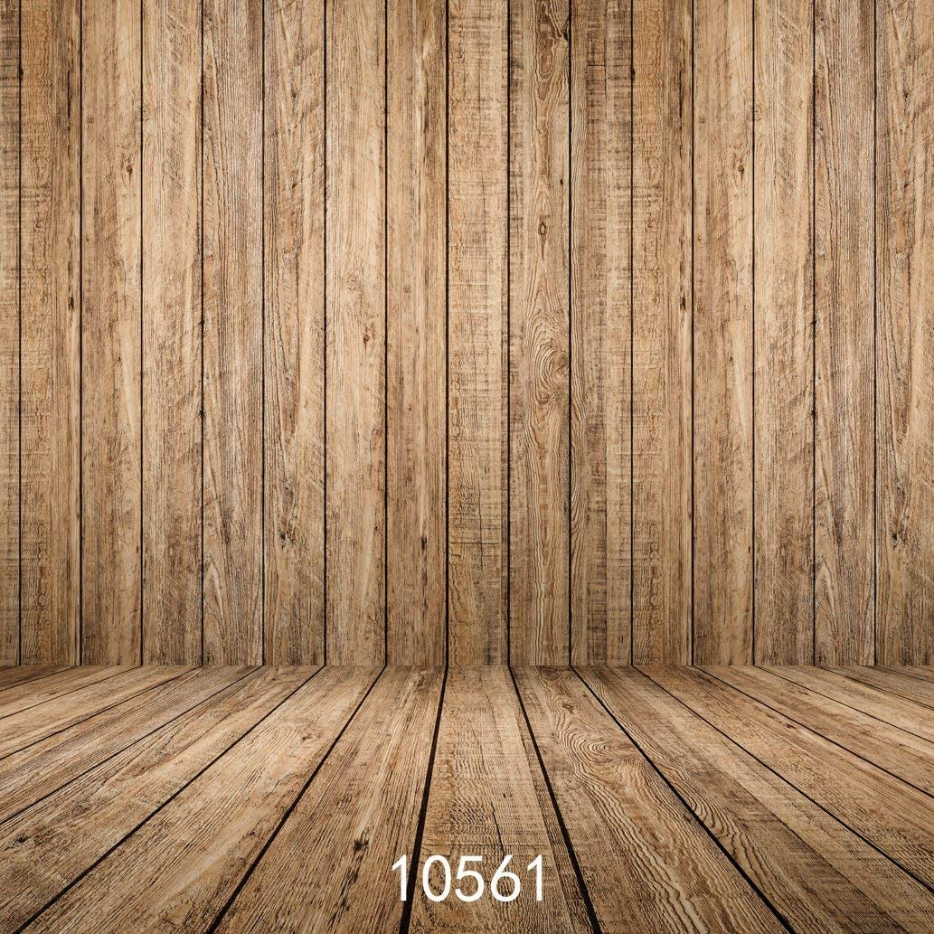 GoHeBe 10X10ft Wooden Wall Floor Vinyl Fabric Photography Backdrops Photo Studio Background Studio Props 10561