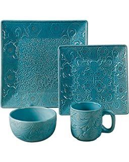 Amazon.com | Gibson Everyday Ocean Oasis 16-Piece Dinnerware Set ...