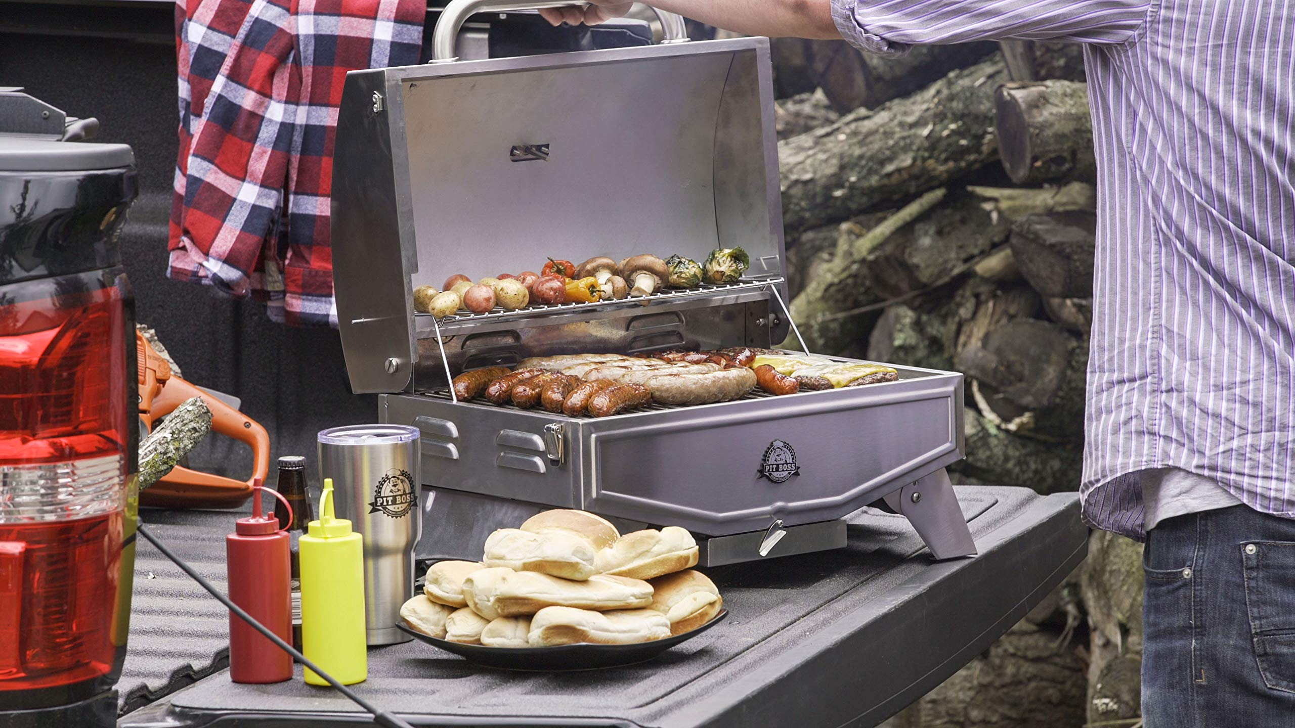 Pit Boss Grills PB100P1 Pit Stop Single-Burner Portable Tabletop Grill by Pit Boss Grills (Image #10)