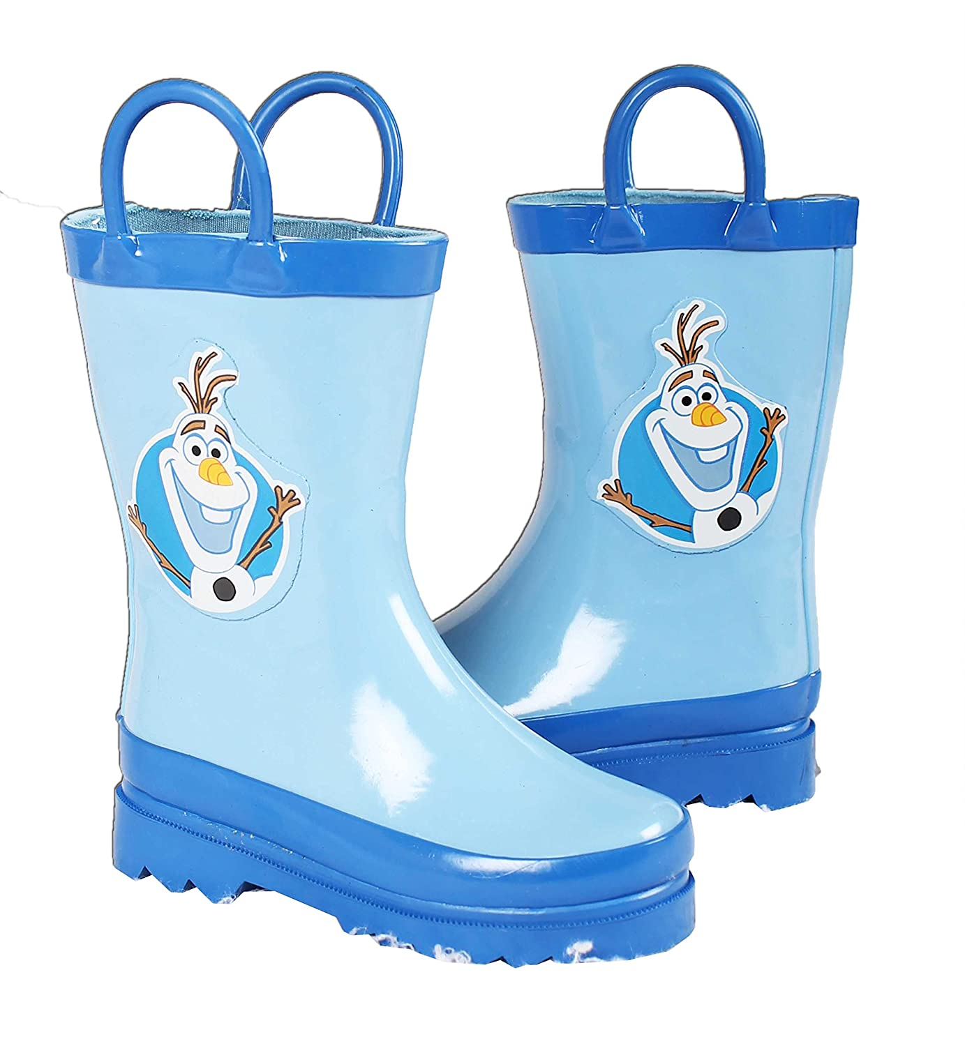 Disney Frozen Olaf Boys Blue Rain Boots