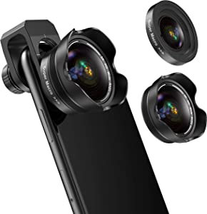 Phone Camera Lens, 5K HD 2 in 1 120° Wide Angle Lens, 20X Macro Lens,Clip-On Phone Lens Compatible iPhone,Samsung, Most Andriod Phones No Distortion