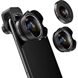 Phone Camera Lens, 5K HD 2 in 1 120° Wide Angle Lens, 20X Macro Lens,Clip-On Phone Lens Compatible iPhone,Samsung, Most…