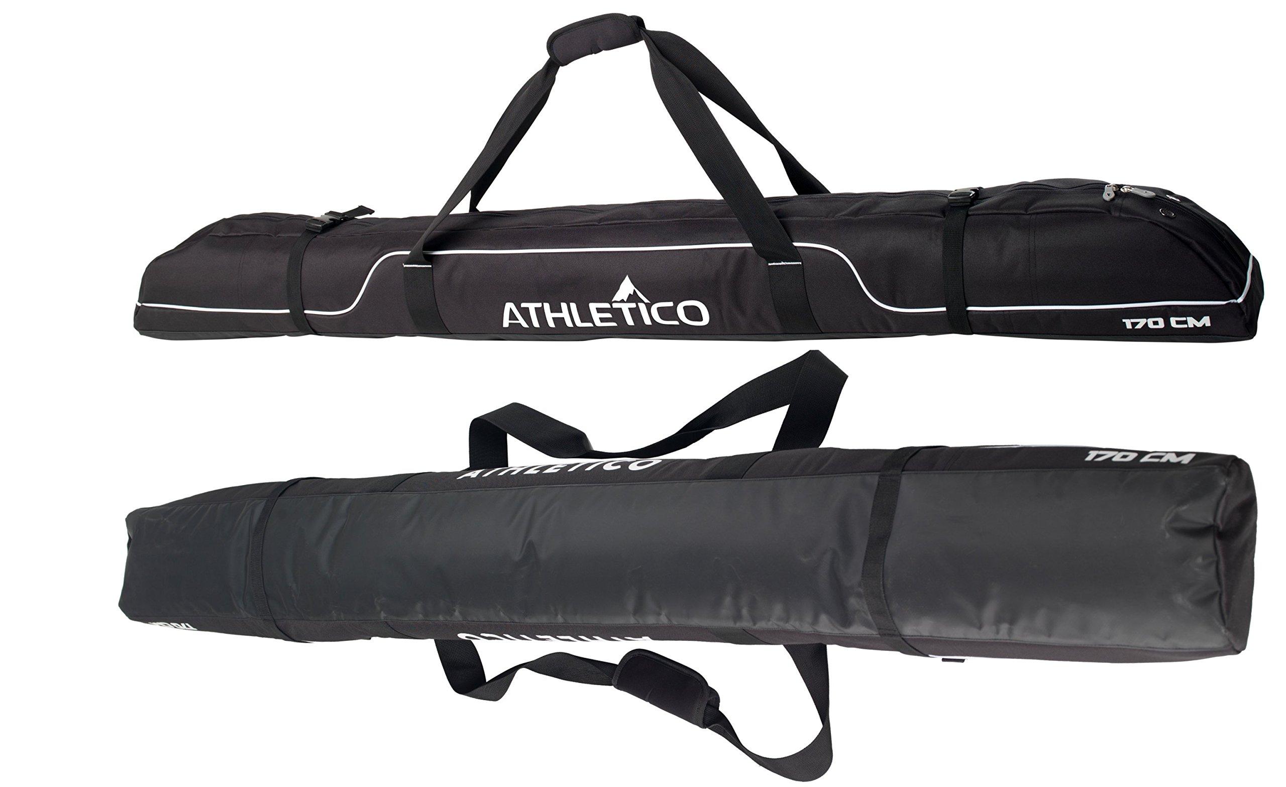 Athletico Diamond Trail Padded Ski Bag Single Ski Travel Bag to Transport Skis