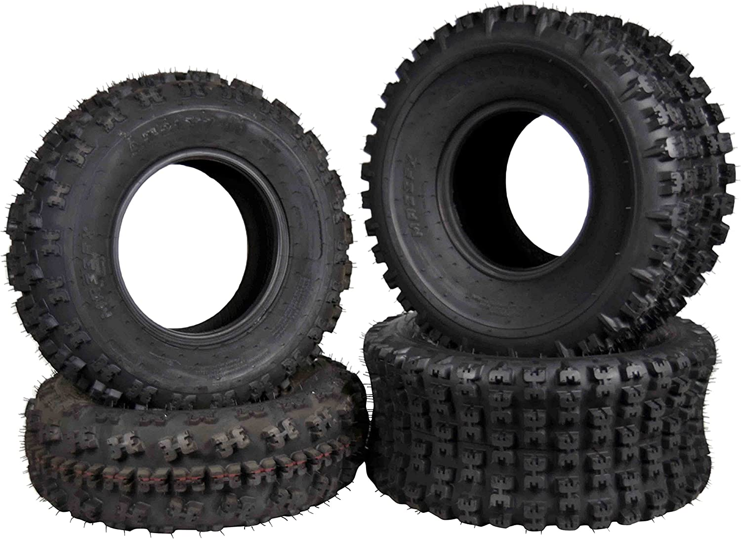 MASSFX 4 Set 21X7-10 20x10-9 ATV Tires Durable 6 ply Dual Compound Curved Tread