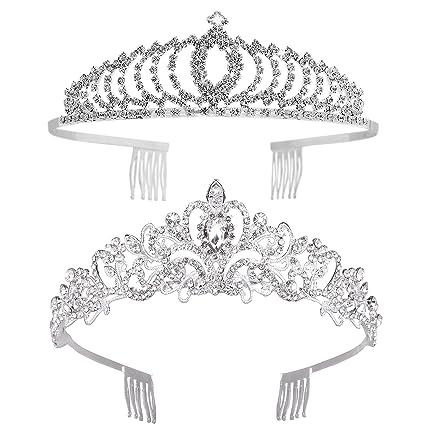 Amazon.com: Vofler - Tiaras y coronas, 2 unidades de diadema ...