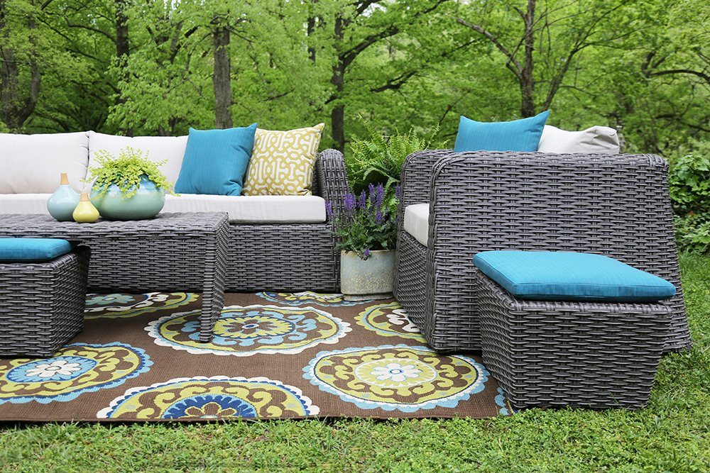 Amazon.com : AE Outdoor Whitmire 6 Piece All Weather Wicker Deep Seating  with Sunbrella Fabric : Garden & Outdoor - Amazon.com : AE Outdoor Whitmire 6 Piece All Weather Wicker Deep