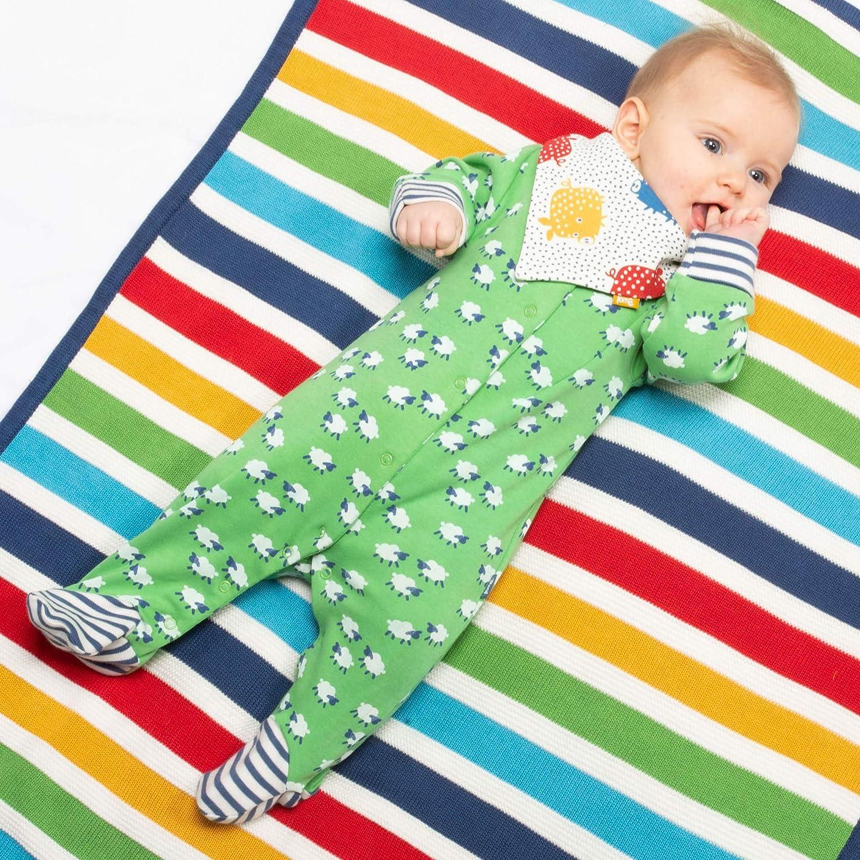 Green Newborn-24 Months Kite Baby Sheepy Stripe Sleepsuit
