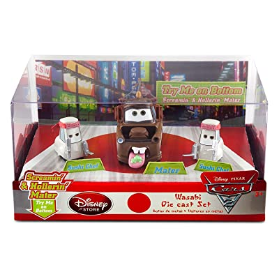 Disney Wasabi Cars 2 DieCast Set-3-Pc,Screamin'&Hollerin' Mater TowTruck,2 Sushi: Toys & Games