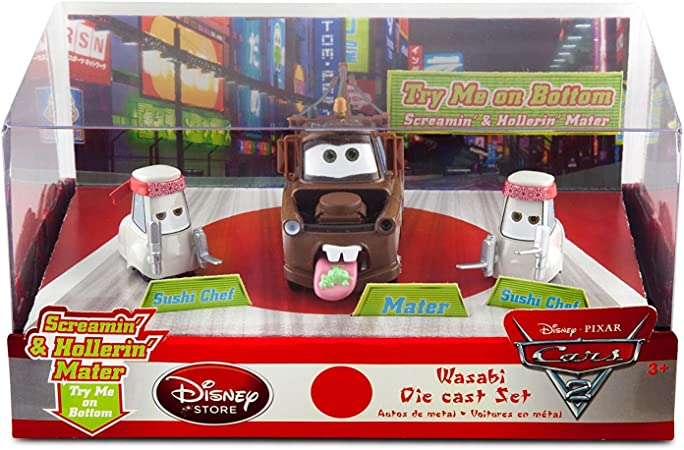 Disney / Pixar CARS 2 Movie Exclusive 148 Die Cast Car 3Pack Wasabi Screamin Hollerin Mater with 2x Sushi Chefs by Disney: Amazon.es: Juguetes y juegos