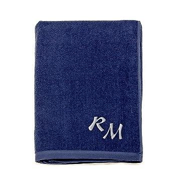 Grande 100% algodón bordado Monogram toalla de playa toallas de baño toallas de vacaciones,