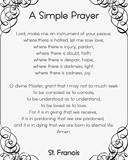 image regarding St Francis Prayer Printable named : St. Francis Prayer \