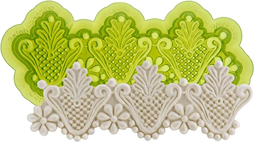 Betty Gumpaste and Rolled Icing Marvelous Molds Silicone Lace Mold Cake Decorating with Fondant