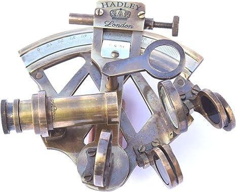 Sextante en Trípode-Sextante Nave de latón sextante Náutico Marina sextante