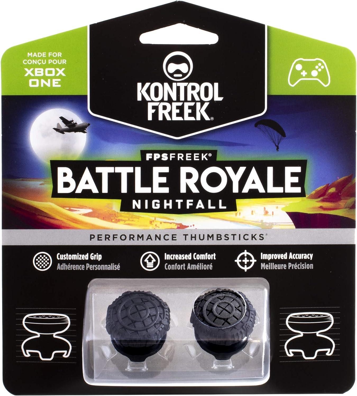 KontrolFreek FPS Freek Battle Royale Nightfall para Xbox One y Xbox Series X/S Controller | Performance Thumbsticks | 2 sricks de gran altura, Convexos | Negro