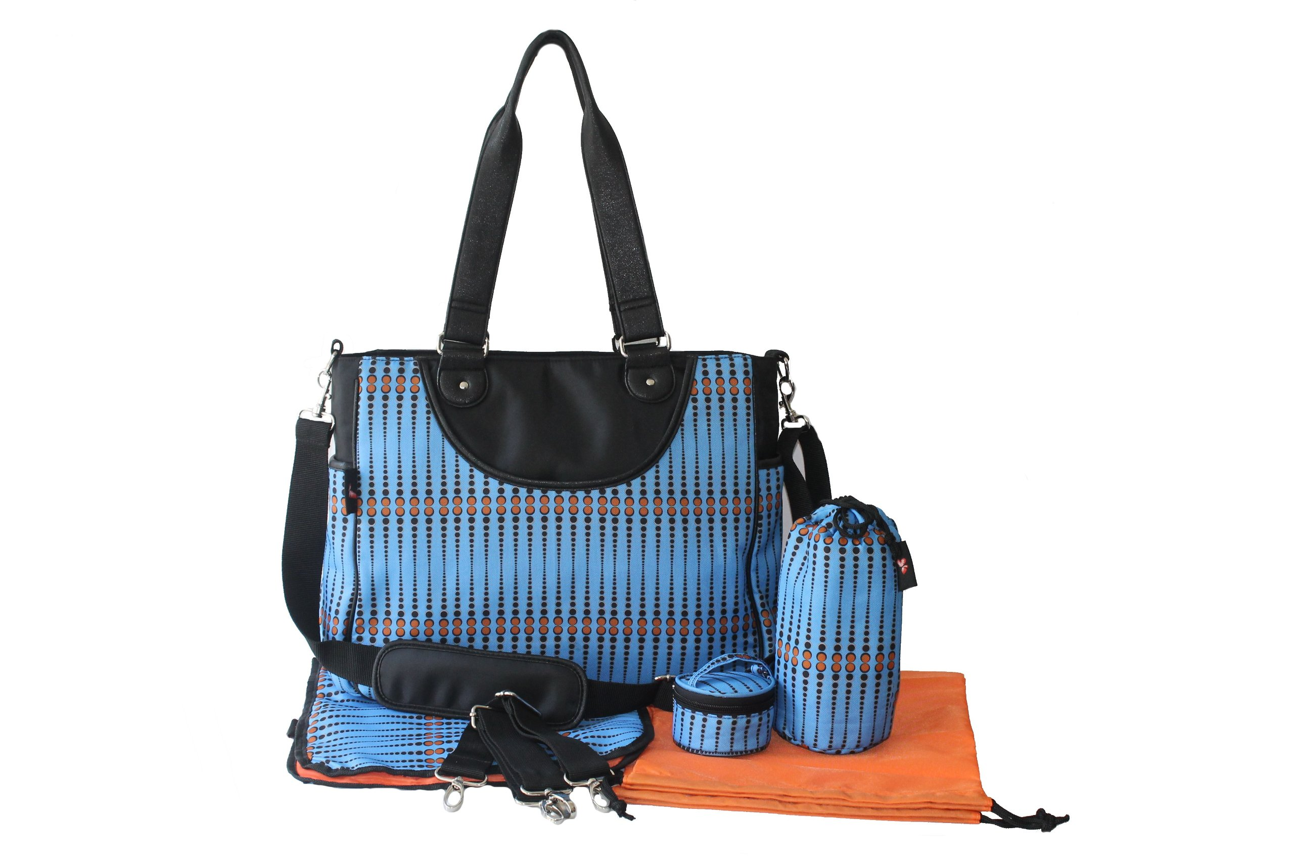 House of Botori Amara Shoulder Diaper Bag, Skipper Azure