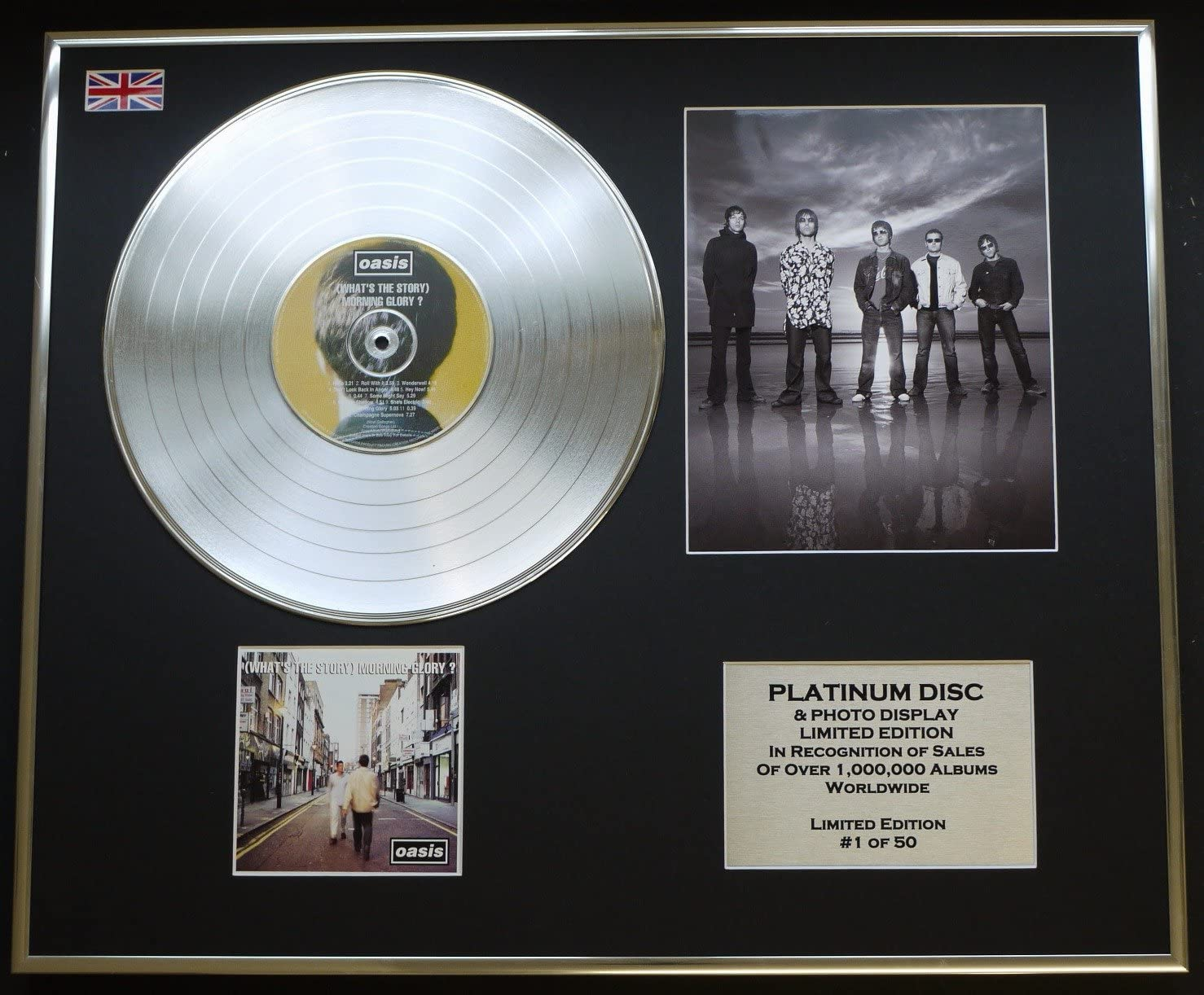 What The Story Morning Glory? Oasis//Ltd Edition CD Platinum Disc//