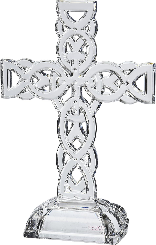 Belleek Pottery 34002 Celtic Cross Set of 1 11.4-Inch Clear