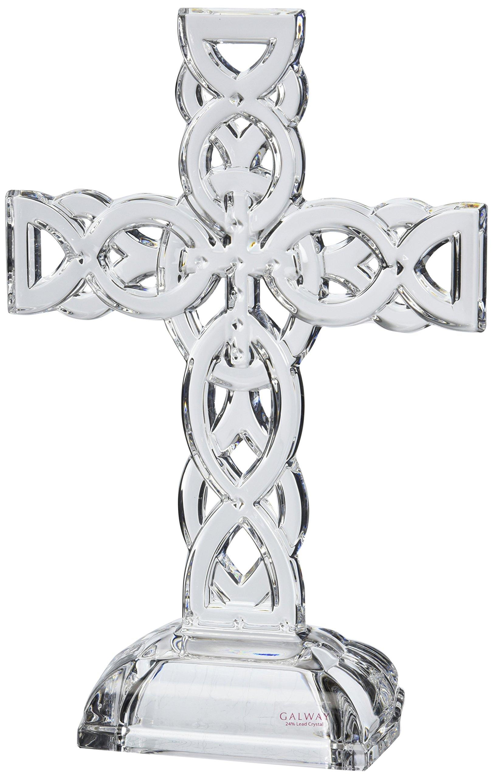 Belleek Pottery 34002 Celtic Cross, 11.4-Inch, Clear, Set of 1 by Belleek