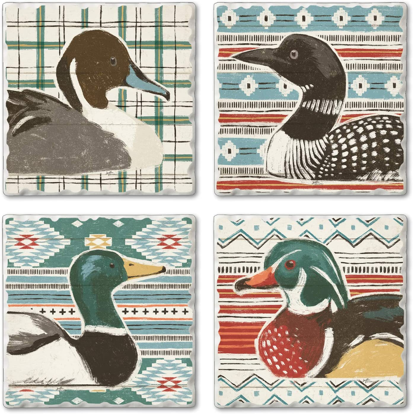 Duck Birthday ANIMAL BIRD CERAMIC art tile coaster