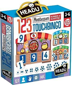 Headu-123 Montessori Touch Bingo Juego Infantil Matemáticas, Multicolor (IT21109): Amazon.es: Juguetes y juegos