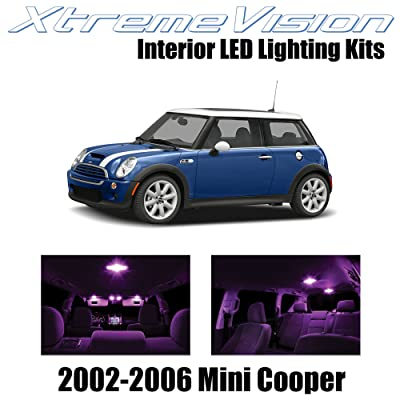 XtremeVision Interior LED for Mini Cooper 2002-2006 (7 Pieces) Pink Interior LED Kit + Installation Tool: Automotive