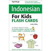Tuttle Indonesian for Kids Flash Cards: [Includes 64 Flash Cards, Audio CD, Wall Chart & Learning Guide]