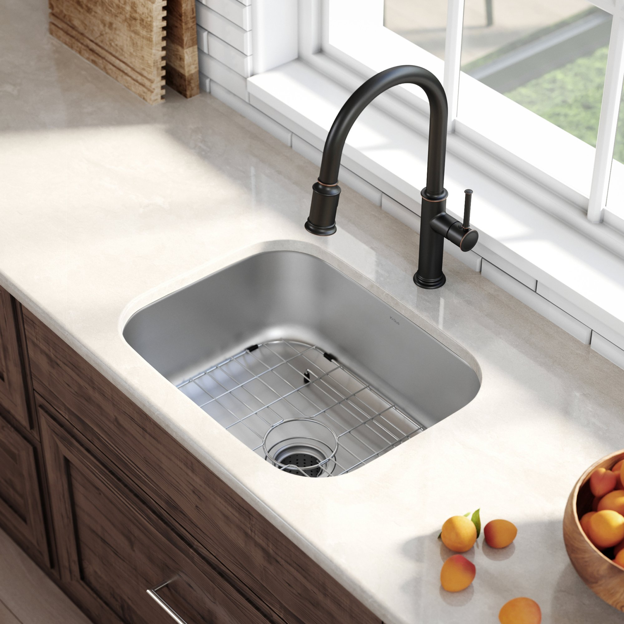 Kraus KBU12 23 inch Undermount Single Bowl 16 gauge Stainless Steel Kitchen Sink by Kraus (Image #3)