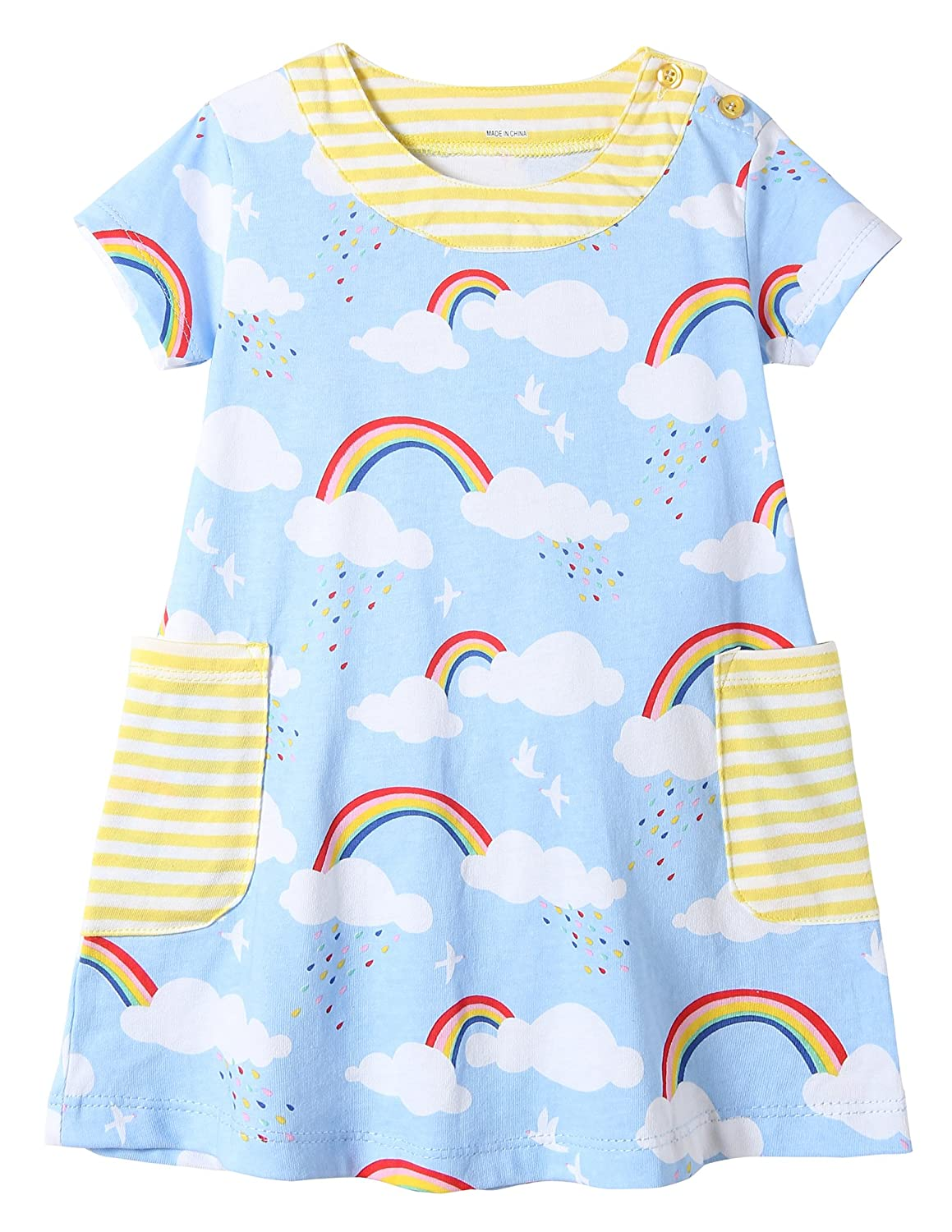 Fiream Girls Cotton Casual Dresses TZlyq013