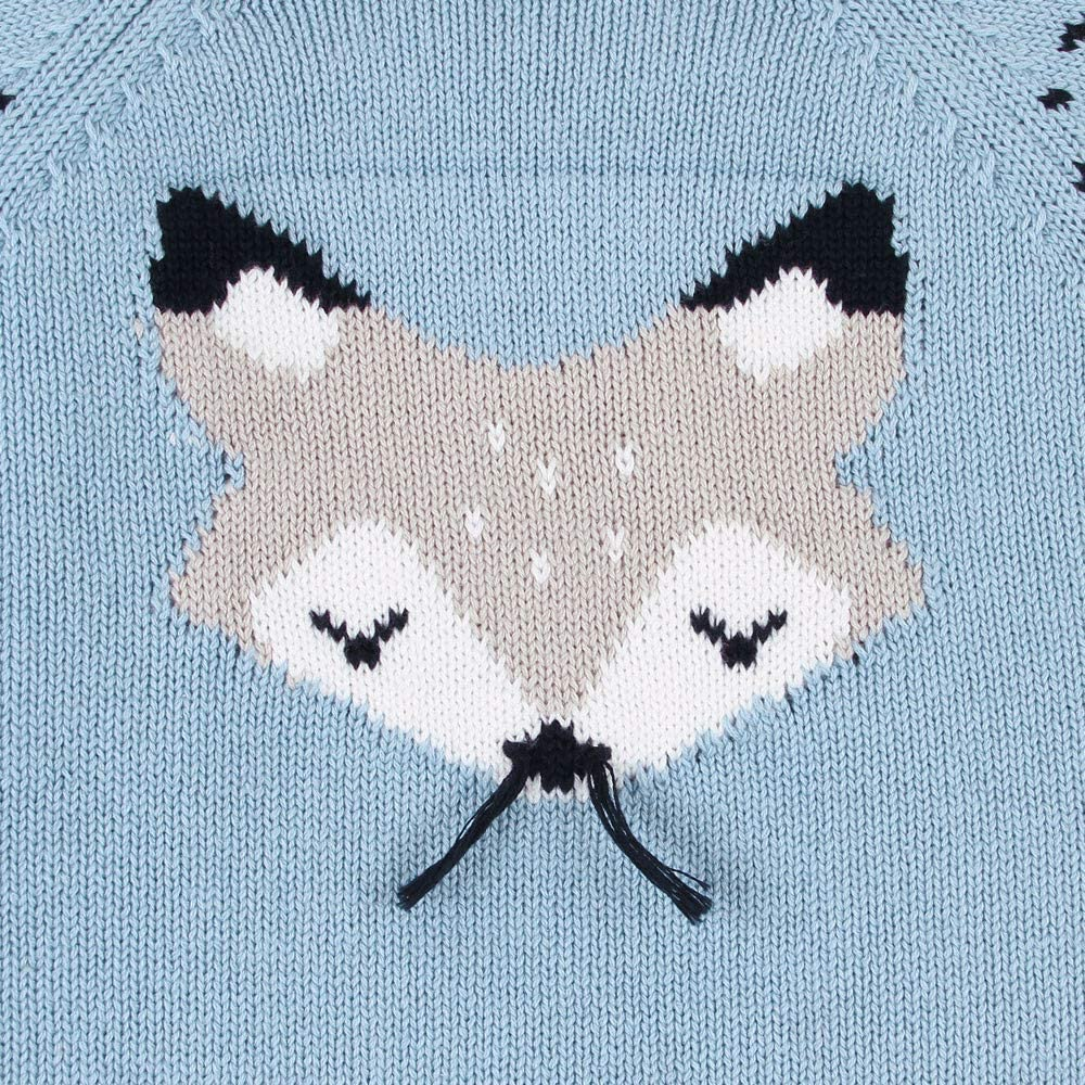 LHWY Newborn Infant Baby Boy Girls Knitted Sweater Fox Knit Jumper Romper Jumpsuit Outfits Sweater Onsie Clothes