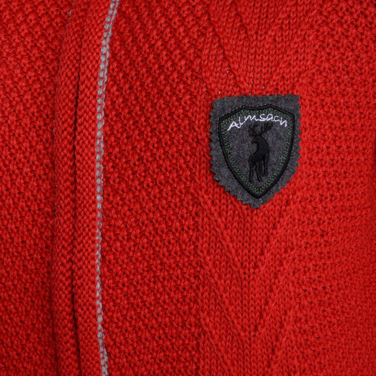 Almsach Damen Trachten-Mode Trachtenstrickjacke Isabell in Rot traditionell