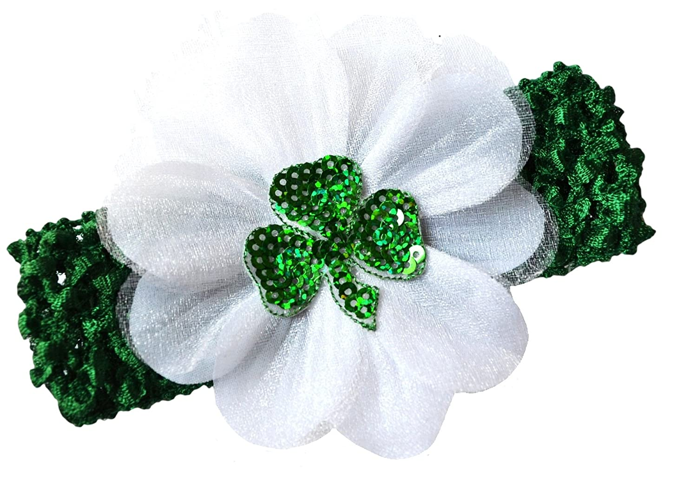 amazon com st patrick u0027s day shamrock baby headband green