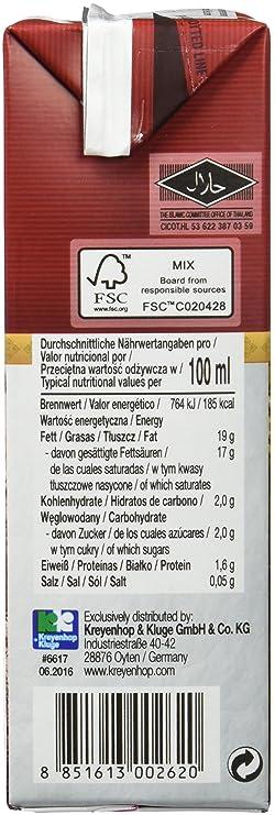 Orient Gourmet Leche de Coco Contenido de Grasa 17-19% - 12 Tetra Pack: Amazon.es: Alimentación y bebidas
