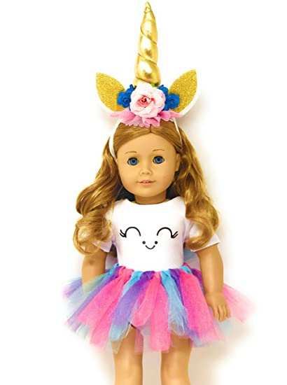 d116e2cf4b3f Genius Dolls Unicorn Clothes, Headband, Tutu -fits all 18 inch dolls like  American Girl, Our Generation My Life Adora Gotz | great gift for little  and big ...
