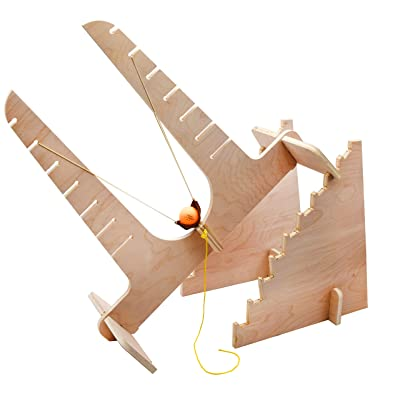 Projectile Motion Slingshot Kit - DIY Kit - Explore Force, Energy Transformation, Mechanical Advantage, and Projectile Motion - No Tools Required - Garage Physics by Eisco: Industrial & Scientific