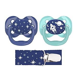 Dr. Brown's Advantage Pacifier with Pacifier Clip, 0-6M, Blue, 2 Count