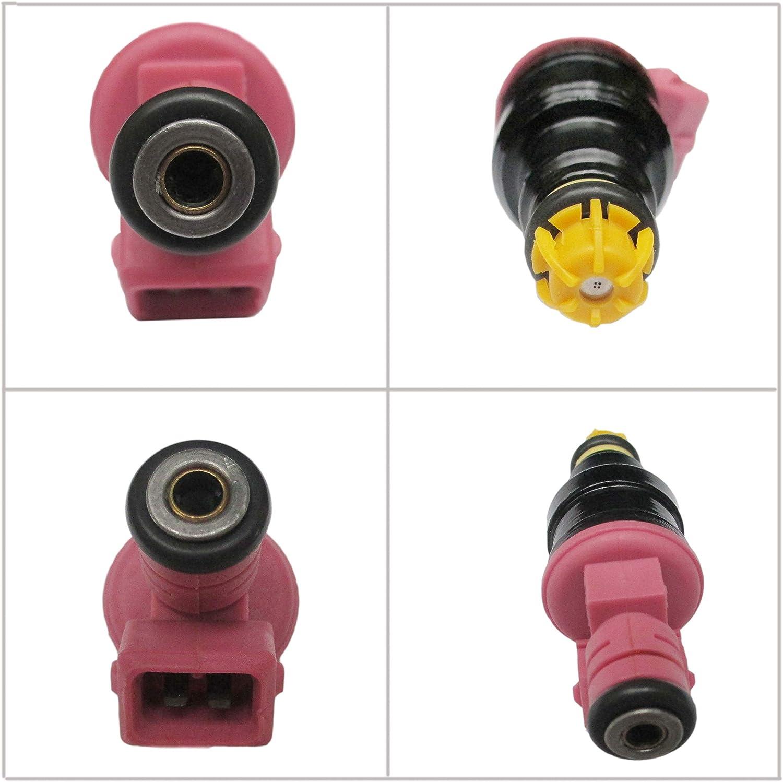 6x pink top injectors for BMW 21.5lb M52 M52B28 M3 E39 E46 E36 0280150440
