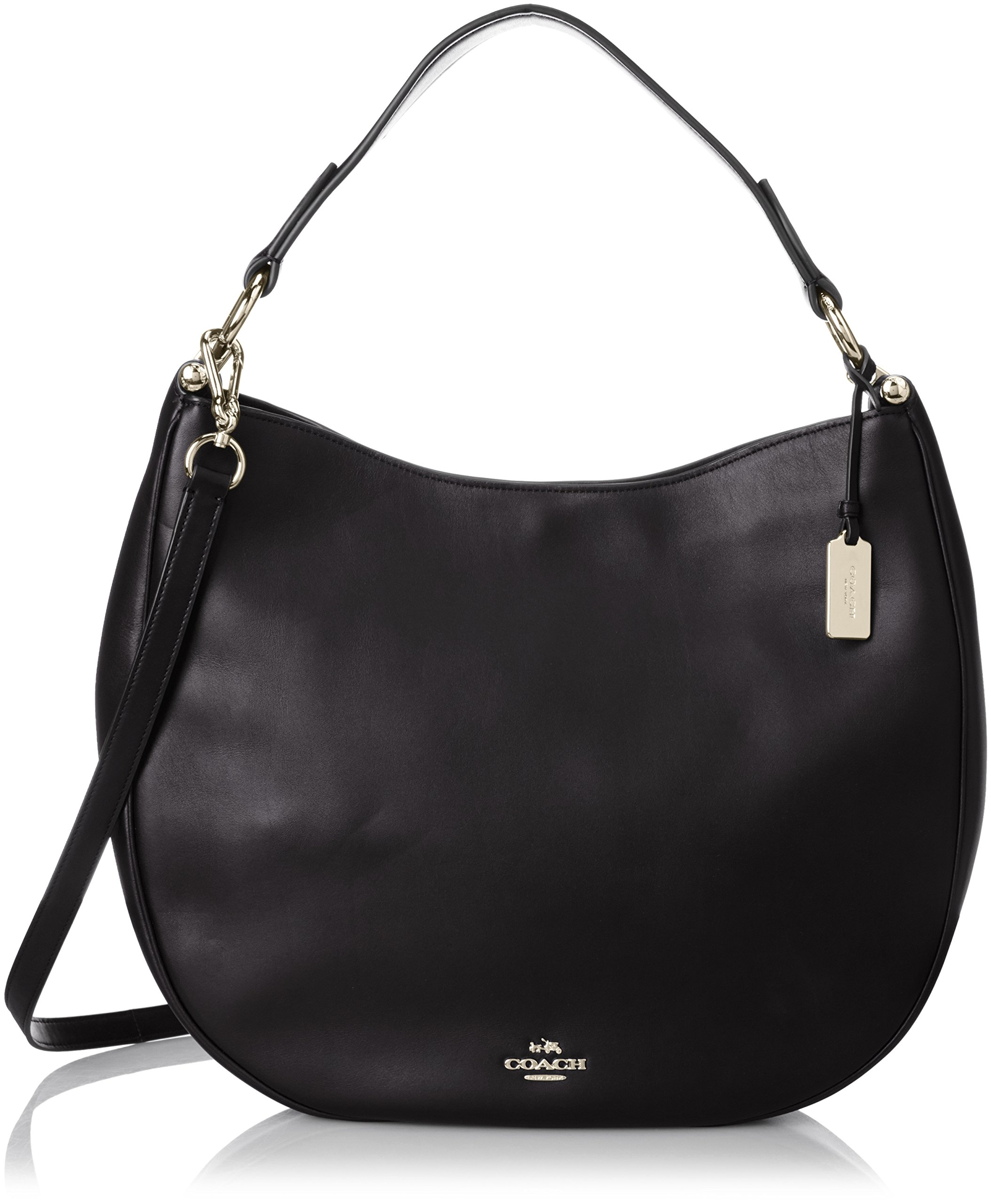 COACH Women's Natural Calf Nomad Hobo LI/Black Hobo