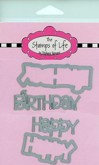 Amazon.com: Los sellos de la vida feliz cumpleaños palabra ...