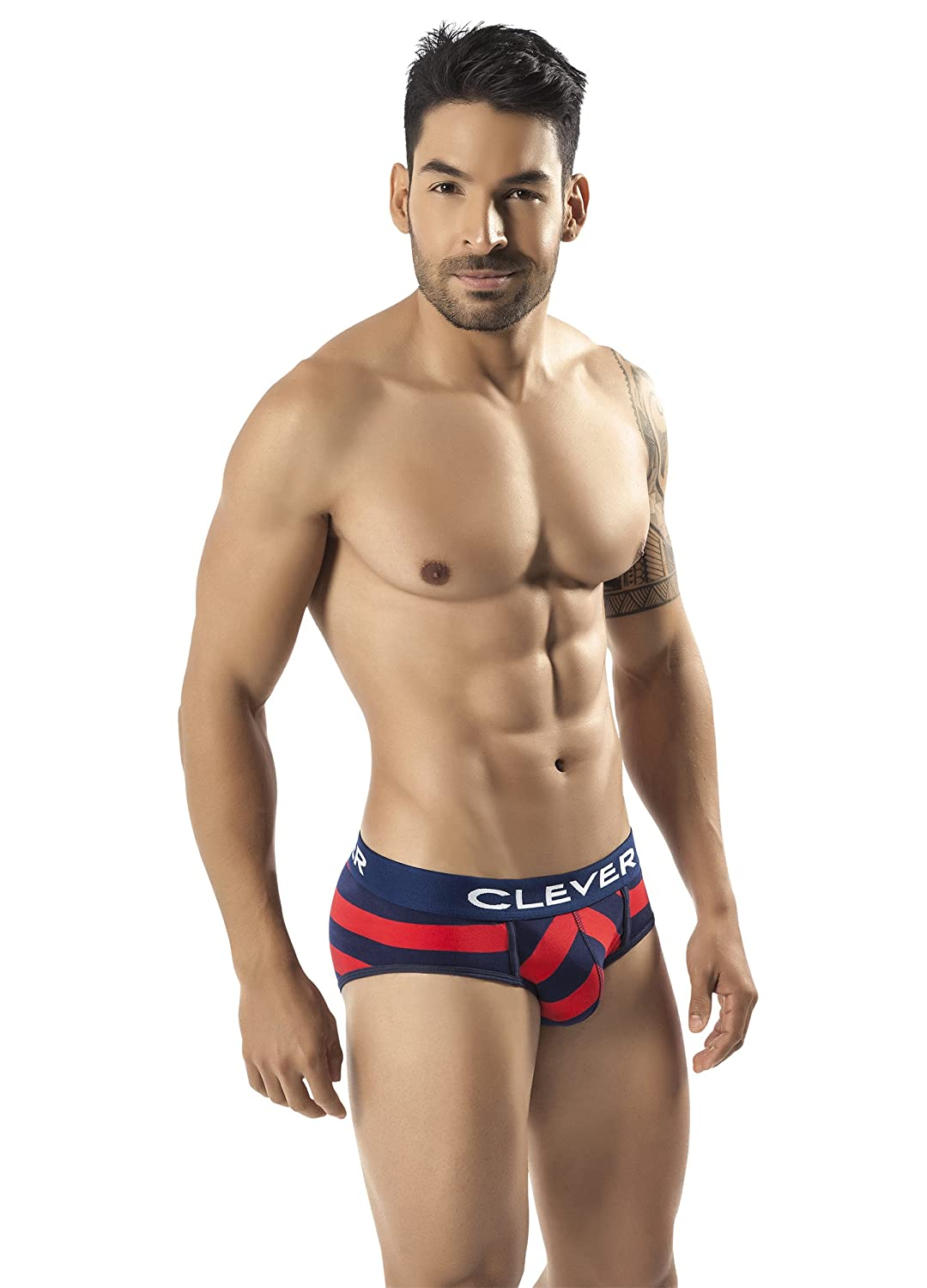 Clever 5227 Mens Termoli Piping Brief X-Large Red at Amazon Mens Clothing store: