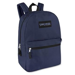 """17"""" Trailmaker Backpack Bookbag (Navy Blue)"""