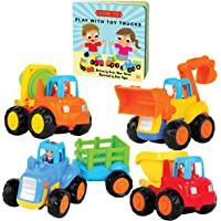 Educational Play Set for Kids Age 1, 2, 3 - Push & Pull Cars for Two Year Olds - Storybook Toys for 2 Year Old Boy…