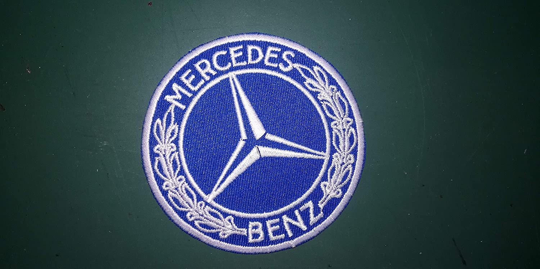 BLUE HAWAI A525/Patch Coches Mercedes Azul Claro 8/cm