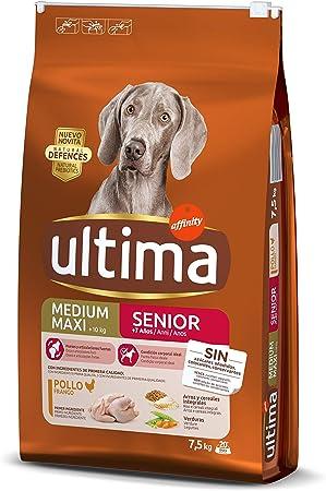 Oferta amazon: Ultima Pienso para Perros Medium-Maxi Senior de +7 Años con Pollo - 7500 gr