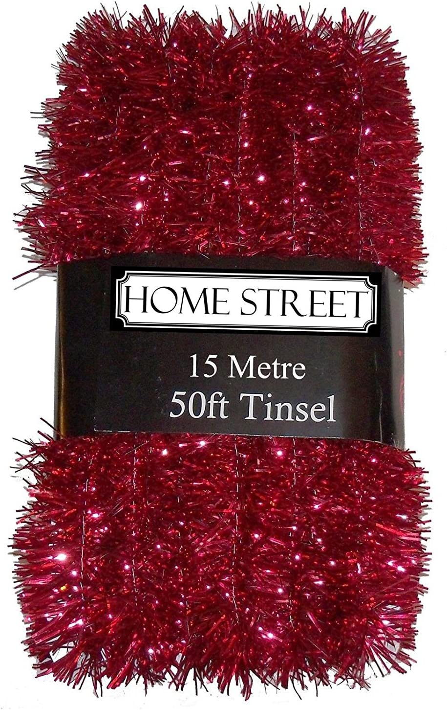 50 ft Long Christmas Tinsel Xmas Tree 15 Metre 50 Foot Silver Gold or Red