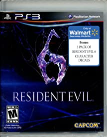 Resident Evil 6 Walmart Exclusive W 3 Pack Of Amazoncom