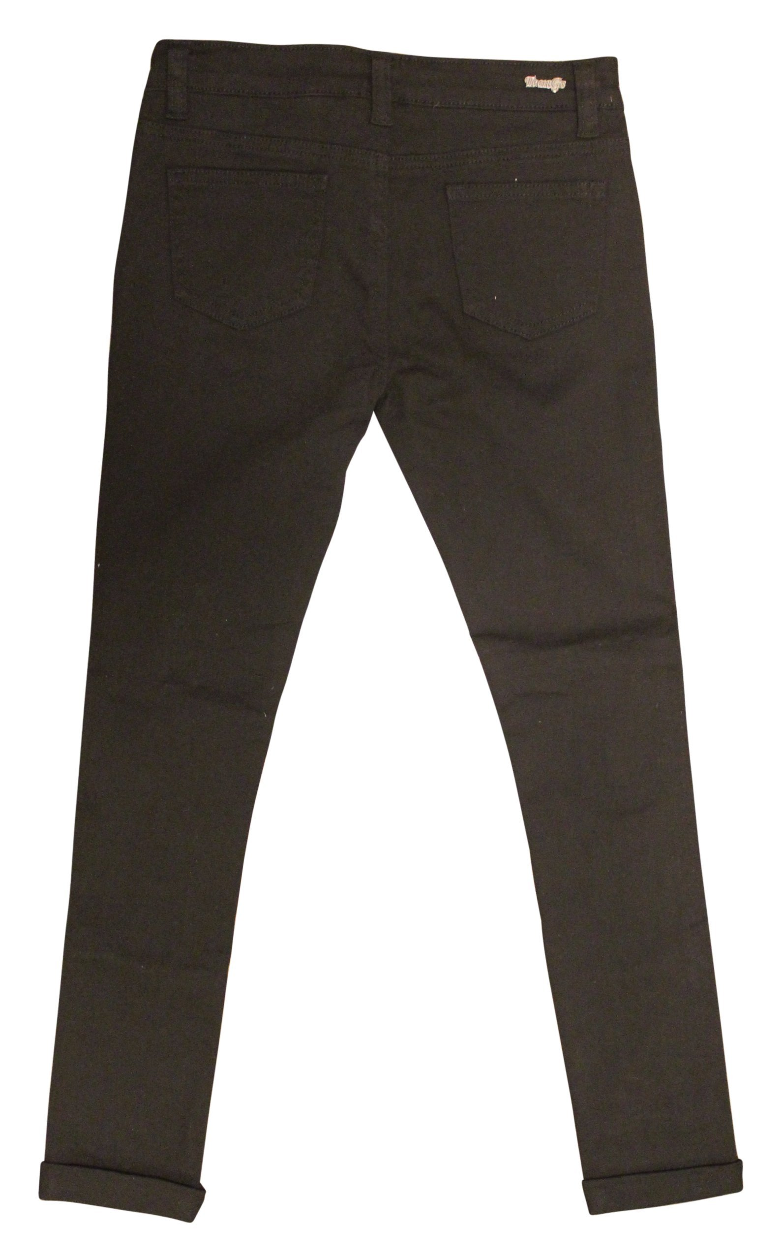 Teen G's Jeans and Twill for Girls by Skinny Jeans for Girls with Ripped Denim and Distressed Stretch Fabric Slim Fit Pants,kp33 (16, Black) by Teen G's (Image #2)